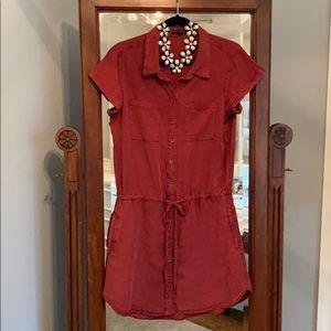 NWT red/burgundy shirt dress